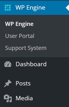 WP Engine WordPress Menu Item
